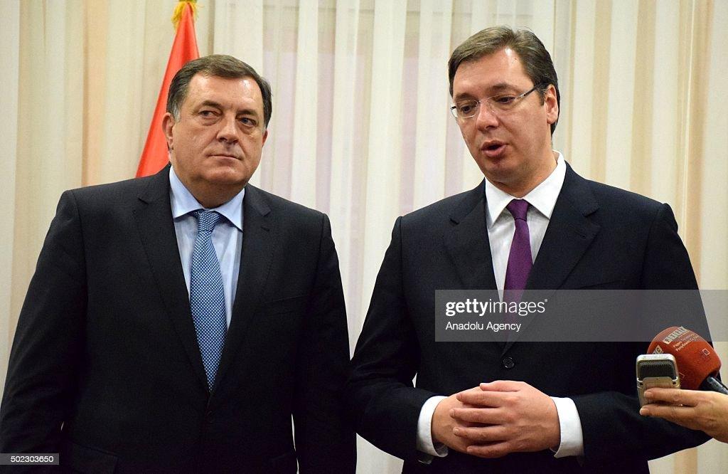 Milorad Dodik - Aleksandar Vucic : News Photo