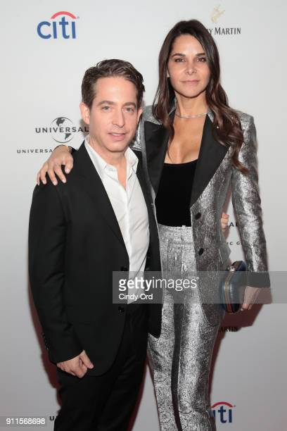 President of Republic Records Charlie Walk and Lauran Walk attend the Universal Music Group's 2018 After Party to celebrate the Grammy Awards...