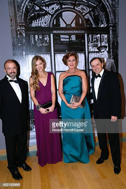 President of Reunion des Musees Nationaux JeanPaul Cluzel Archduchess Eleonore Von Habsburg her daughter Princess Francesca Von Habsburg and...