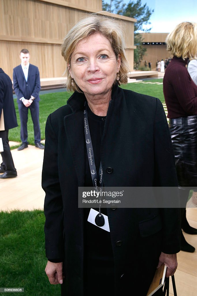 President of Reunion des Musees Nationaux (MNR) Sylvie Aubac attends the Chanel Spring Summer 2016 show as part of Paris Fashion Week on January 26, 2016 in Paris, France.