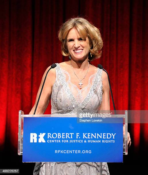 President of RFK Center Kerry Kennedy speaks onstage at Robert F Kennedy Center For Justice And Human Rights 2013 Ripple Of Hope Awards Dinner at New...