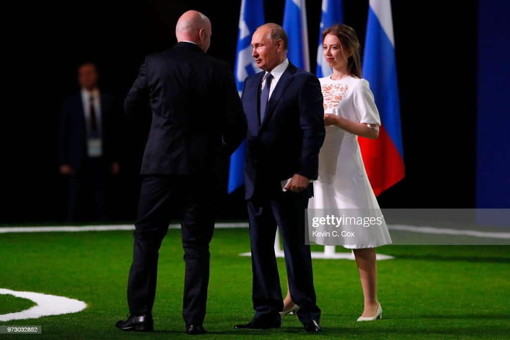 President of Russia, Vladimir Putin and FIFA President Gianni Infantino during the 68th FIFA Congress at the Moscow Expocentre on June 13, 2018 in Moscow, Russia.