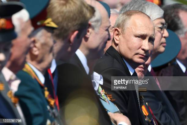 President of Russia Vladimir Putin looks on prior to the Victory Day military parade in Red Square marking the 75th anniversary of the victory in...