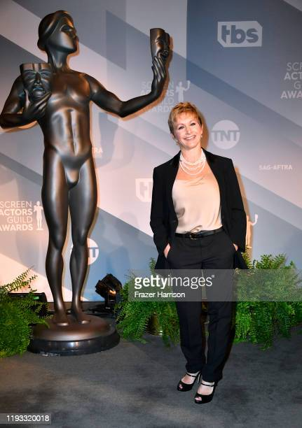 President of SAG-AFTRA, Gabrielle Carteris attends the 26th Annual Screen Actors Guild Awards Nominations Announcement at Pacific Design Center on...
