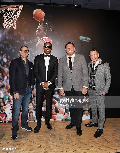 President of Saks Marc Metrick Future GQ Publisher Howard Mittman and GQ Editorinchief Jim Nelson attend the GQ Saks Fifth Avenue and Future AllStar...