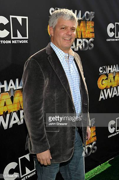 President of Sales, Distribution and Sports for Turner Broadcasting System, Inc David Levy arrives at Cartoon Network Hall of Game Awards held at The...