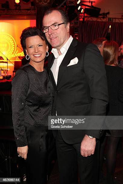 President of Schalke 04, Clemens Toennies and his wife Margit Toennies during the Lambertz Monday Night 2015 at Alter Wartesaal on February 2, 2015...