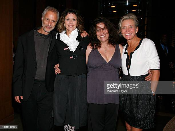 President of Screen Media Robert Baruc writer/director Rebecca Miller producer Lemore Syvan and vice president of Screen Media Suzanne Blech arrive...