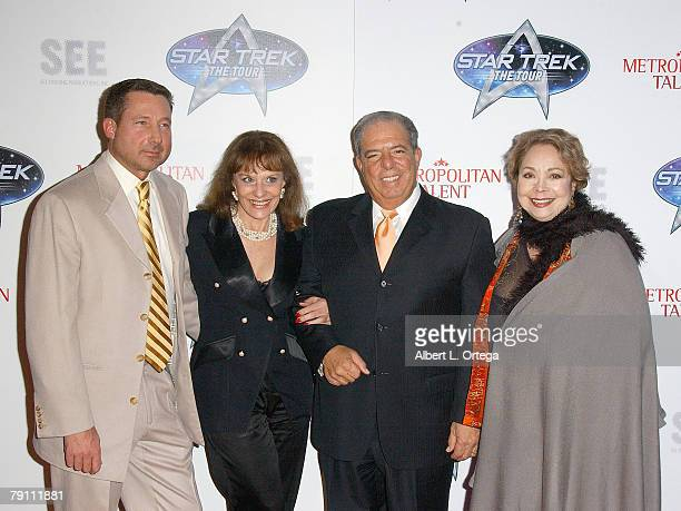 President of SEE Touring Martin Biallas actress Tanya Lemani Long Beach Mayor Bob Foster and actress Arlene Martel arrive at Star Trek The Tour...
