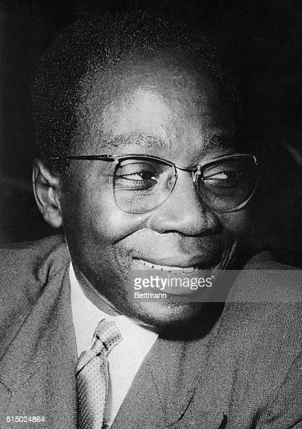 President of Senegal, Leopold Senghor is shown in this photograph.