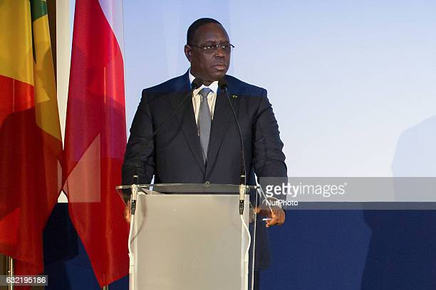 President of Senegal Macky Sall in Warsaw Poland on 27 October 2016