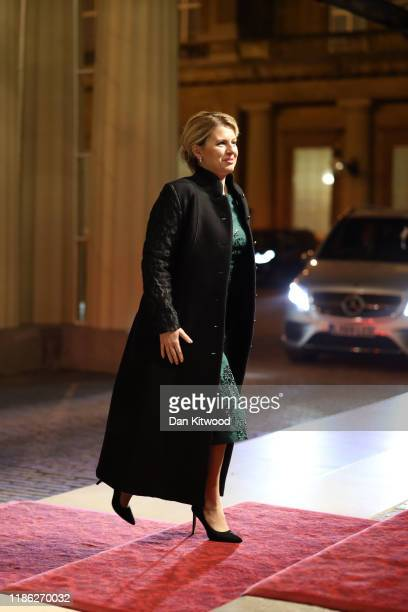 President of Slovakia Zuzana Čaputová arrives at a reception for NATO leaders hosted by Queen Elizabeth II at Buckingham Palace on December 3 2019 in...