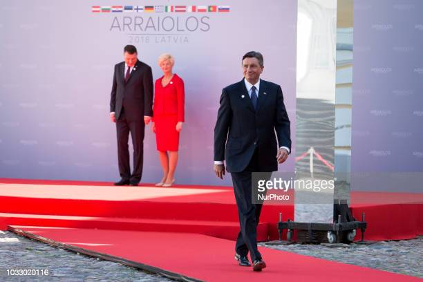 President of Slovenia Borut Pahor during the 14th informal meeting of the Arraiolos Group at Rundale Palace in Rundale Latvia on 13 September 2018...
