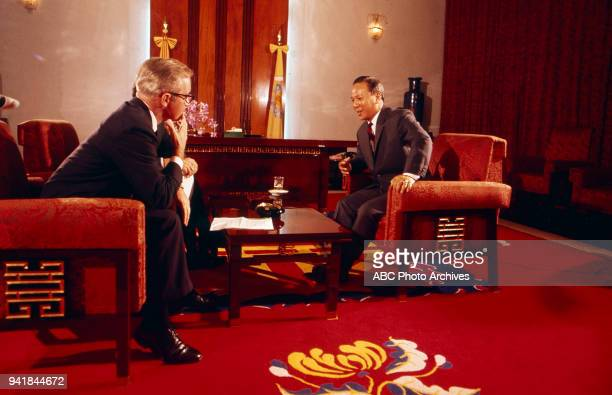 President of South Vietnam Nguyen Van Thieu on Walt Disney Television via Getty Images's 'Issues and Answers' program