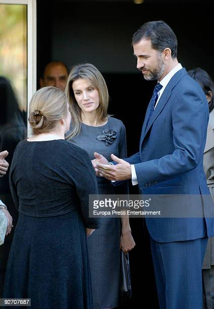 President of Spain Jose Luis Rodriguez Zapatero Prince Felipe and Princess Letizia offer Francisco Ayala's relatives their condolences on November 4...