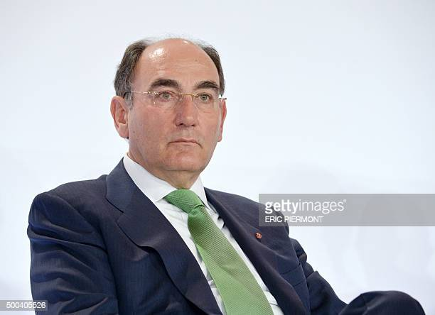President of Spanish energy group Iberdrola Ignacio Galan attends a press conference of members of the Magritte Initiative group in Paris on December...