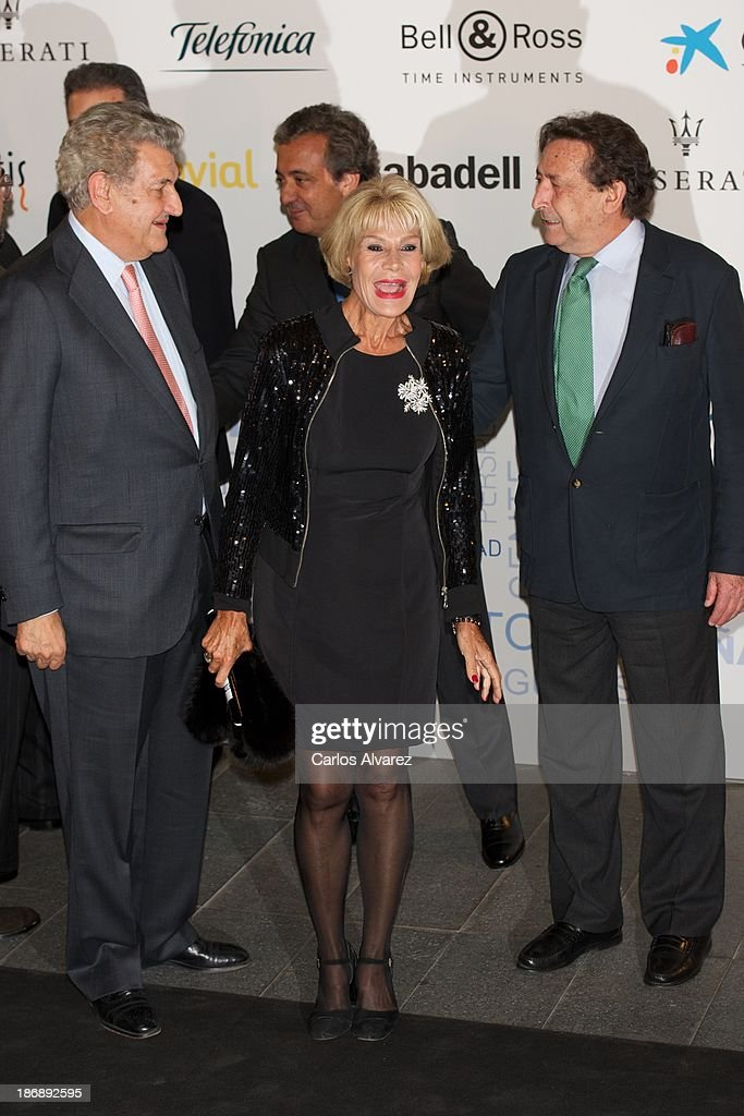 President of Spanish Parliament Jesus Posada, Rosa Valenty and Alfonso Ussia attend 'La Razon' Newspaper 15th Anniversary on November 4, 2013 in Madrid, Spain.