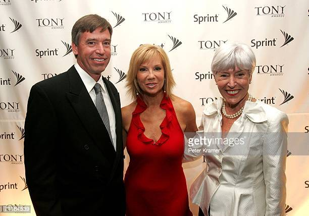 President of Sprint Consumer Division Tim Kelly Kathie Lee Gifford and Tim's mother Alice McMullin pose for a photo at the Sprint Lounge during the...