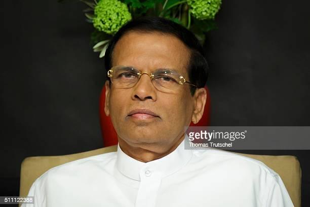 President of Sri Lanka Maithripala Sirisena on February 18 2016 in Berlin Germany