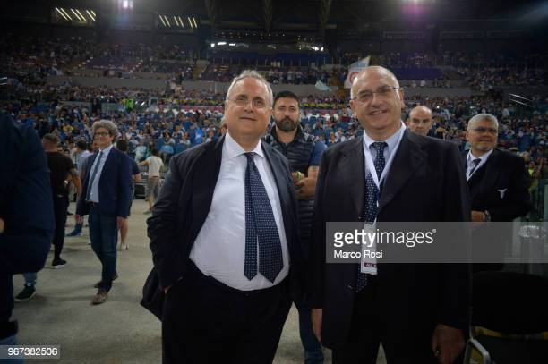 President of SS Lazio Claudio Lotito during the match between SS Lazio Legends and West Ham Legends part of the event 'Di Padre In Figlio' on June 4...