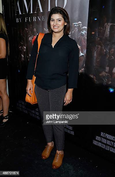 President of Style Rida Khan attends 'Inside Amato' New York premiere at Liberty Theater on September 16 2015 in New York City