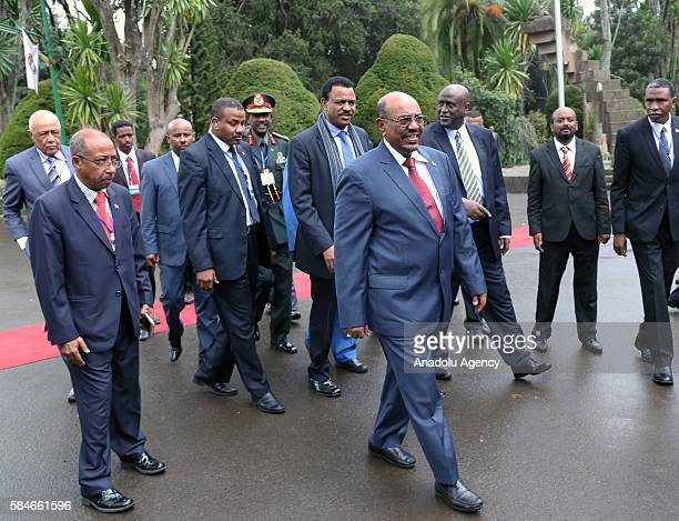 President of Sudan Omar alBashir visits Addis Ababa University in Addis Ababa Ethiopia on July 29 2016