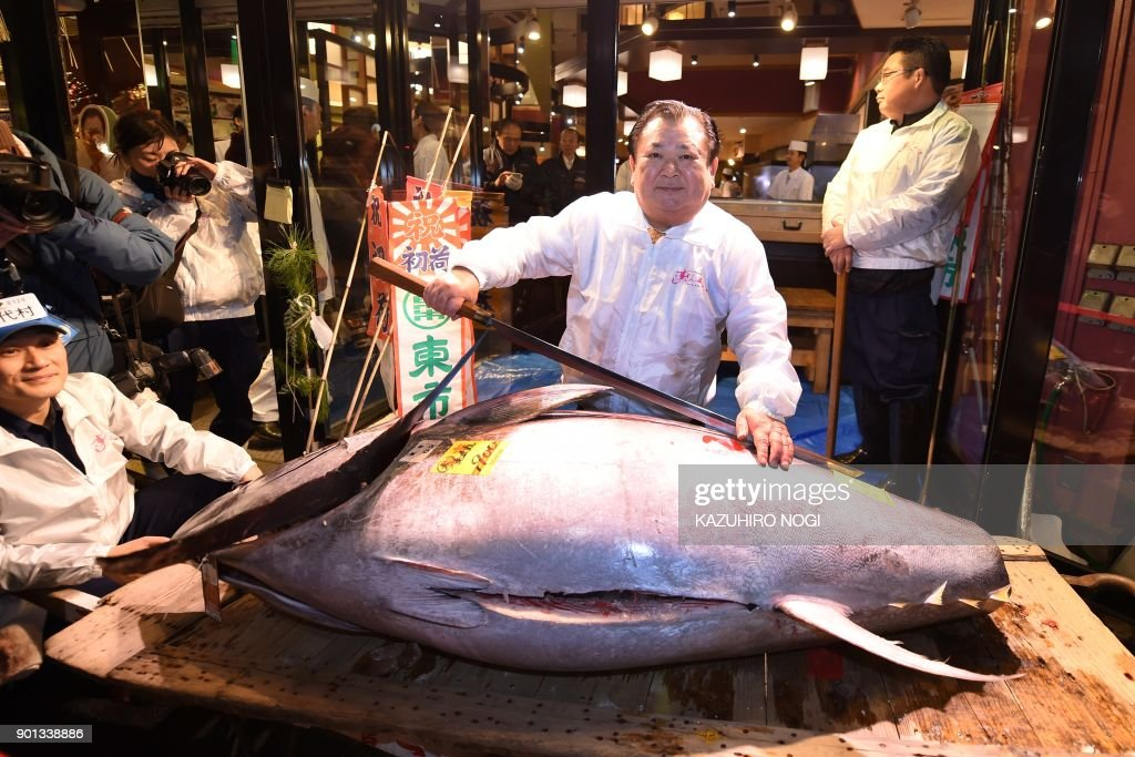 JAPAN-FOOD-AUCTION-TSUKIJI : News Photo