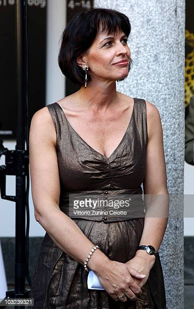 President of Switzerland Doris Leuthard attends the 63rd Locarno Film Festival Opening Cocktail on August 4 2010 in Locarno Switzerland