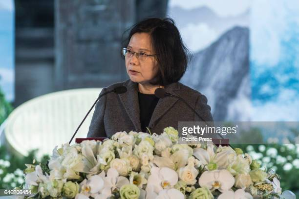President of Taiwan Tsai Ing-Wen attends the 70th anniversary in the event of the 228 incident in Taipei.