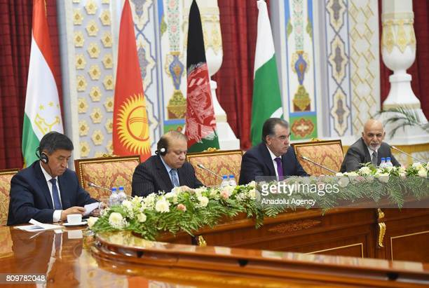 President of Tajikistan Emomali Rahmon , Afghan President Ashraf Ghani , Prime Minister of Pakistan Nawaz Sharif and Prime Minister of Kyrgyzstan,...