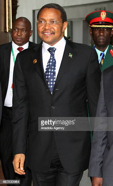 President of Tanzania Jakaya Kikwete attends 24th Ordinary Session of the African Union on January 30 2015 in Addis Ababa Ethiopia