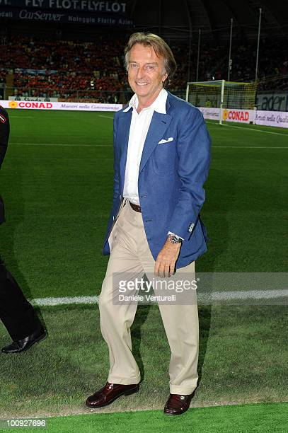 President of Telethon Luca Cordero di Montezemolo attends the XIX Partita Del Cuore charity football game at on May 25 2010 in Modena Italy