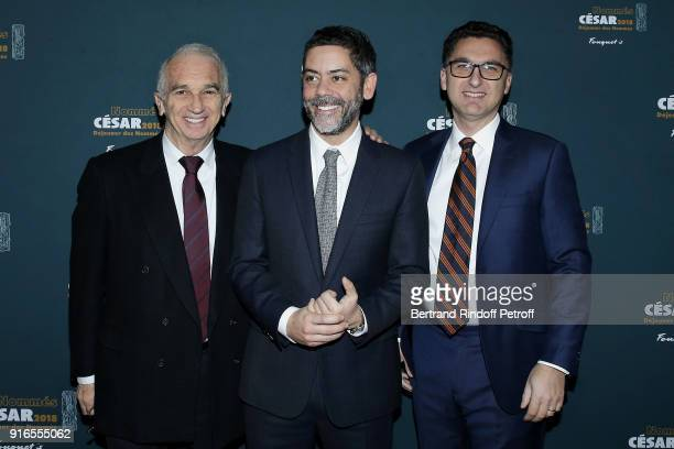 President of the Academy of Arts and Techniques of Cinema Alain Terzian Actor and Master of Ceremonies for the 43rd Cesar Ceremony Manu Payet and...