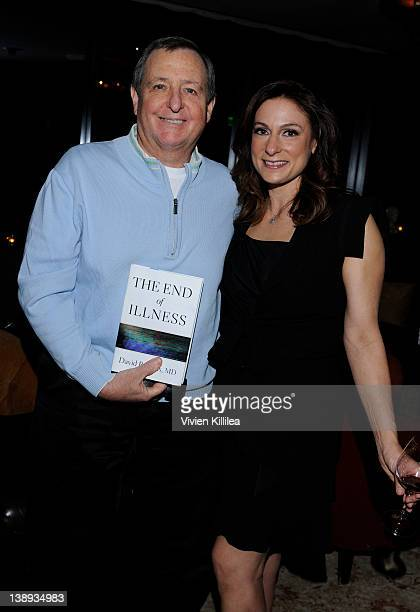President of the Academy of Motion Picture Arts and Sciences Tom Sherak and actress Amy Povich attend Celebration Honoring The Publication Of The End...