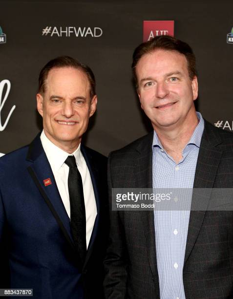 President of the AIDS Healthcare Foundation Michael Weinstein and AHF Senior Vice President Peter Reis attend the AHF World AIDS DAY Concert and 30th...