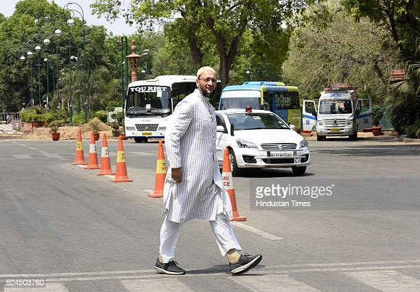 President of the All India MajliseIttehadul Muslimeen and threetime Member of Parliament Hyderabad constituency in Lok Sabha Asaduddin Owaisi after...