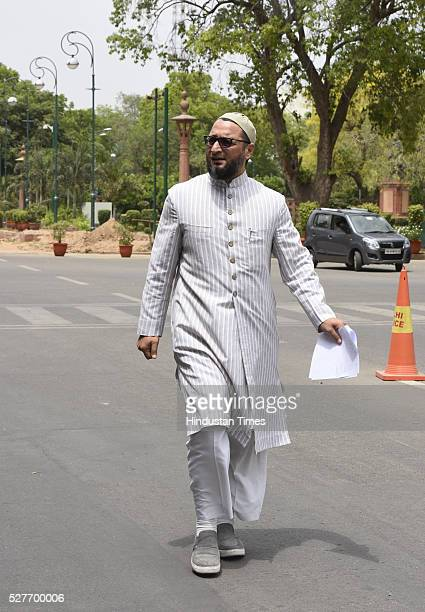 President of the All India MajliseIttehadul Muslimeen and threetime Member of Parliament Hyderabad constituency in Lok Sabha Asaduddin Owaisi leaves...