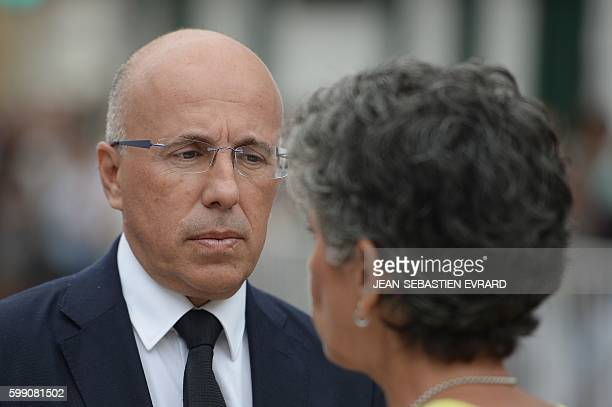 President of the AlpesMaritimes' departmental council Eric Ciotti looks on during the LR political party summer camp on September 4 in La Baule...