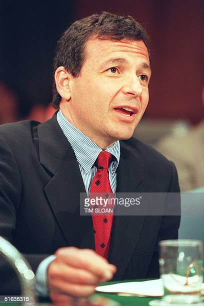 President of the American Broadcasting Corporation Robert Iger testifies 07 July before the US Senate Judiciary Antitrust Business Rights and...