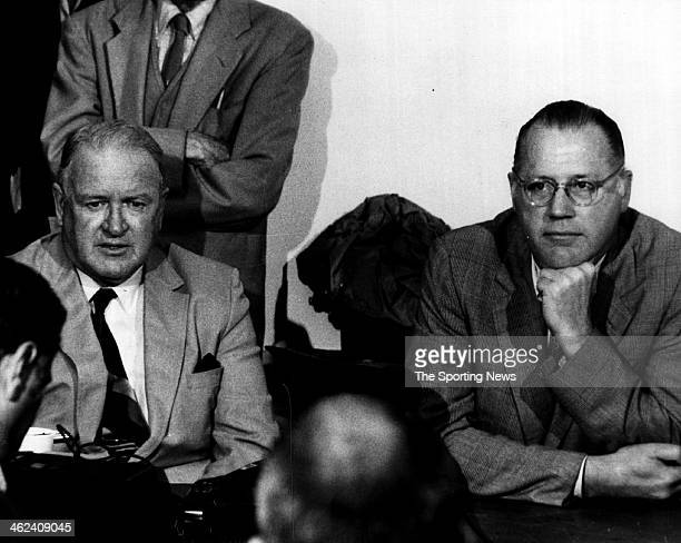 President of the American League Joe Cronin and Major League Baseball Commissioner Bowie Kuhn circa 1970