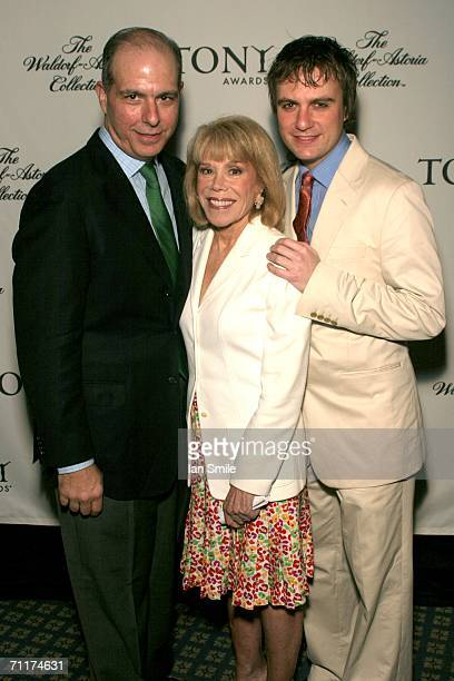 President of the American League of Theaters and Producers Jed Bernstein American Theater Wing Chairman Sondra Gilman and Tony nominee Manoel...