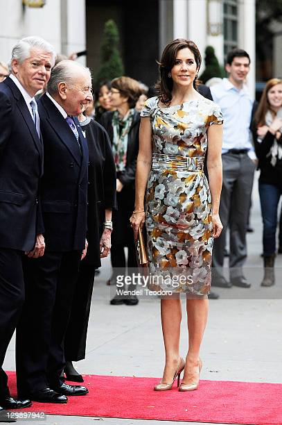 President of The AmericanScandinavian Foundation Edward Gallagher and Princess Mary of Denmark attend the AmericanScandinavian Foundation Centennial...