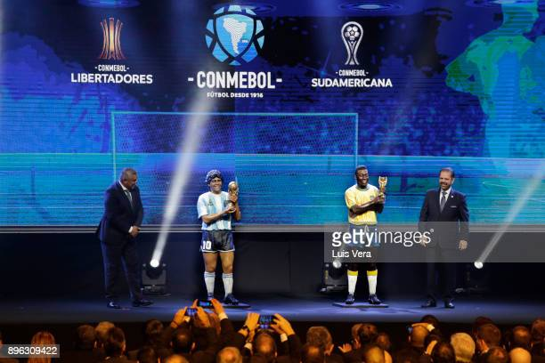President of the Argentine Football Association Claudio Tapia and President of the Paulista Football Association Reinaldo Bastos unveil the figures...