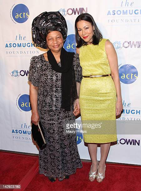 President of the Asmougha Foundation Dr Lilian Asomugha and Ann Curry arrive at the 6th Annual Asomugha Foundation Gala at the Millennium Biltmore...