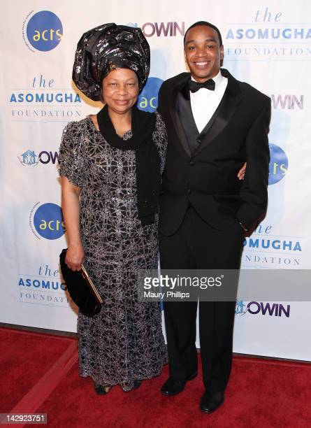 President of the Asomugha Foundation Dr Lilian Asomugha and Jordan Burnham arrive at the 6th Annual Asomugha Foundation Gala at the Millennium...