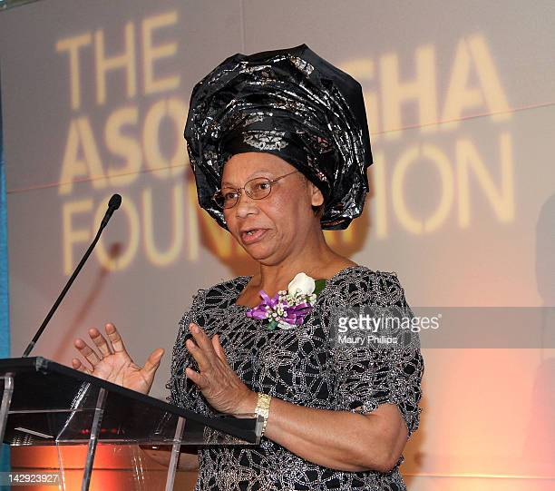 President of the Asomugha Foundation Dr Lilian Asomugha speaks at the 6th Annual Asomugha Foundation Gala at the Millennium Biltmore Hotel on April...