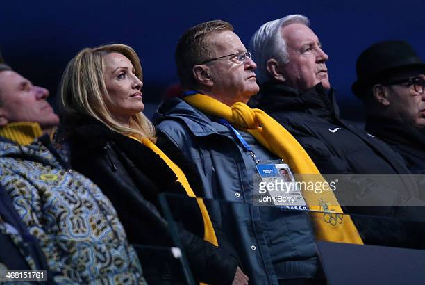 President of the Australian Olympic Committee John Coates watches the competitors of his country during the Opening Ceremony of the 2014 Winter...
