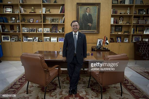 President of the autonomous city of Ceuta Juan Jesus Vivas Lara poses in his office in Ceuta on December 5 2014 This 99% Muslim area in Ceuta...