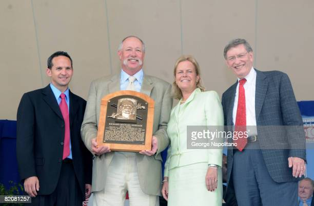President of the Baseball Hall of Fame Jeff Idelson 2008 inductee Rich Goose Gossage Chairman of the National Baseball Hall of Fame and Museum Jane...