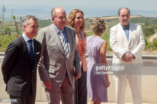 President of the Basque regional government Inigo Urkullu King Juan Carlos Princess Elena of Spain Spain's Agriculture minister Isabel Garcia...